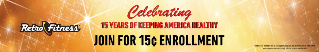 15th Anniversary Special Offer - Join for 15¢ Enrollment!