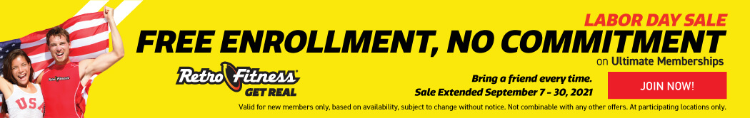 Labor Day Sale - Free Enrollment - No Commitment on Ultimate Memberships!